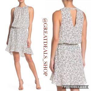 •JOIE• NEW BLACK WHITE TIERED MINI DRESS